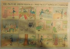 The Picture Show (#2) What Really Happens On a Fishing Trip 1905 Half Page Size!