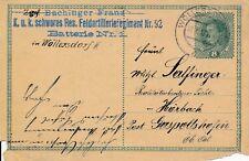 Nr.14736 Feldpostkarte Wöllersdorf K.u.K. Feldartillerie Regiment 92 1917