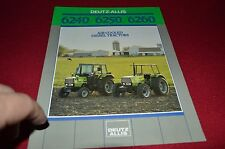 Deutz Allis Chalmers 62240 6250 6260 Tractor Dealers Brochure BWPA