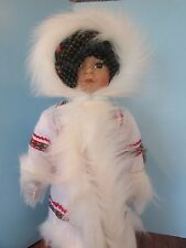 """Amie And Baby"" World Gallery Doll by Valeria Shelton 18"" Eskimo"