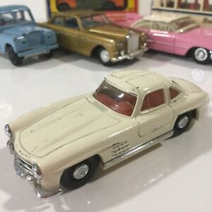 VINTAGE DINKY MECCANO TOYS DY 12 WHITE 1955 MERCEDES BENZ 300 SL 1:50 ENGLAND
