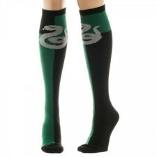 Harry Potter Slytherin Green/Black Womens Knee High Socks