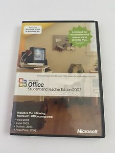 Microsoft Office 2003 Student and Teacher Edition (Retail) (3 User/s). Used