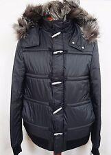 $2230 KRIS VAN ASSCHE Black Fur Hooded Toggle DUFFLE Coat Puffer Parka 50/40 M