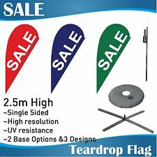 2.5m Outdoor SALE Flag Teardrop Banner Teardrop Flags with Base