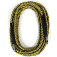PERFEKTION 20 FT VINTAGE BRAIDED TWEED GUITAR, BASS & INSTRUMENT CABLE CORD
