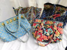 VERA BRADLEY lot of 4 TOTE shoulder BAGS cotton quilted BEE PAISLEY FLORAL ETC