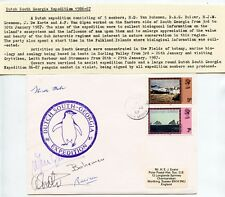 FALKLANDS DUTCH SOUTH GEORGIA EXPEDITION SIGNED COVER 1987 PENGUIN CACHET