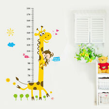 Cartoon Giraffe Kids Height Growth Measure Chart Wall Sticker Decal Home Decor