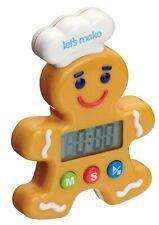 KITCHENCRAFT Little Cooks Gingerbread Man Timer. Baking/Cakes/Kids/Children/Fun.