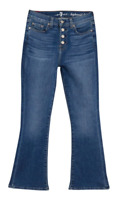 7 FOR ALL MANKIND Kick High Waist Slim Fit Jeans w/ Vintage Buttons - ($220)