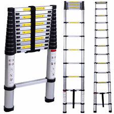 3.8M Telescopic Extension Ladder Heavy Duty Aluminum 12.5 Feet Multi Purpose