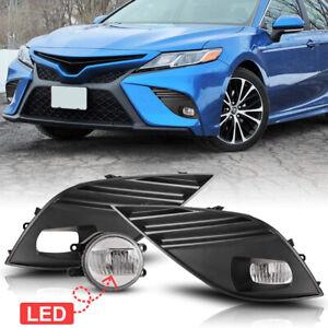 2Pcs Front Grills Bumper Driving Halogen Lamp Fog Lights For Toyota Camry 18-20