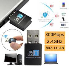 300Mbps 2.4GHz Wireless Lan Card USB PC WiFi Adapter 802.11AC LAN 2T2R Fast Data