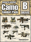 BrickArms Camo Combat Pack - BRAVO Weapons Pack for Brick Minifigures