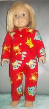 "Pokemon doll pajamas fits 18"" American Girl or boy  doll  Red"