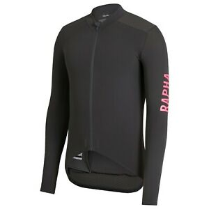 NEW Rapha Men's Cycling Pro Team Aero Jersey S Long Sleeve Carbon Grey Pink RCC
