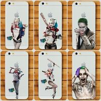 Suicide Squad Phone case Harley Quinn Joker Case Cover for iPhone X  8 7 6 plus