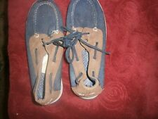 Mens & youth Nautica sneakers Sz 6 UK 5 Boat shoes lace up blu/blk water resist