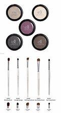 e.l.f. Essential Eye Shadow Singles Set of 5 w/ set of 5 elf Eye Brushes NEW