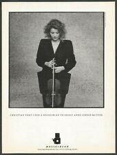 HASSELBLAD Camera- Christian Vogt - Anne-Sophie Mutter -1987 Vintage Print Ad