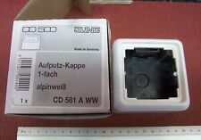 Aufputzrahmen Aufputzgehäuse Jung cd581AWW Aufputz Kappe Montagegehäuse wß  1.1u