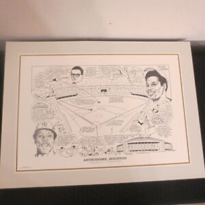 1990 Sporting News 16x22 Litho by Amadee Astrodome Richard/Cedeno