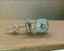 2.00ct Round Diamond 14k White Gold Stud Earrings