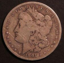 1891 O Circulated Morgan Silver Dollar Coin
