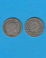 Suisse Helvétia Switzerland 5 Rappen Cuivre-Nickel 1903 Exemplaire N° 1