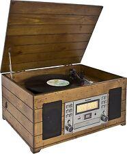 Karcher NO-038 Nostalgie Stereoanlage Plattenspieler Nostalgieradio MP3 CD USB