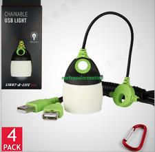 4x 6 LED MINI USB LIGHTS FOR GOAL ZERO AC DC POWER BANKS, SOLAR GENERATORS