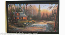 Log Cabin Foot Bridge Sign Rustic Lodge style wall decor plaque country picture