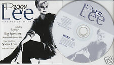 PEGGY LEE Greatest Hits (CD 2001) 20 Songs Best Of