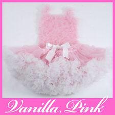Boutique Custom PettiSkirt PINK Vanilla White Trim Set