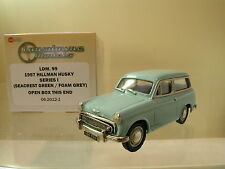 LANSDOWNE MODELS LDM99 HILLMAN HUSKY MK1 ESTATECAR 1957 GREEN/GREY HANDB. 1:43