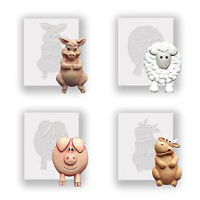 Four Animals - Silicone Moulds, Food Safe, Cake Decorating, Sugarcraft Mold