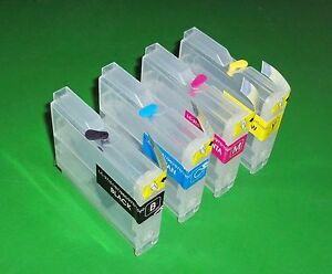 Short Refillable LC37 LC51 LC57 cartridges DCP-130C DCP-150C RECTANGULAR design