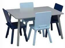 Delta Children Kids Chair Set and Table Set  (4 Chairs Included), Grey/Blue