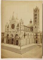 Siena Cattedrale Italia Foto PL53Cn3 Vintage Albumina
