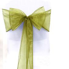 1/10/50/100Pcs Bow Sheer Organza Chair Sashes Covers Wedding Party Banquet Decor