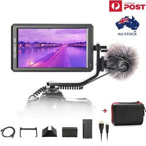 """Feelworld F6 5.7"""" 4K HDMI Camera Field Video Monitor Kit + Battery+ Charger"""