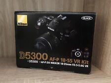Nikon d5300 NOIR avec AF-P 18-55 mm VR Kit Neuf neuf dans sa boîte