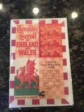 Heraldic Scroll of England and Wales Coat of Arms