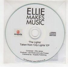 (GG973) Ellie Makes Music, The Lights - 2013 DJ CD + pin badge