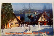 New York NY North Pole Santa's Workshop Winter Postcard Old Vintage Card View PC