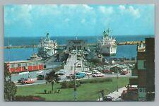 Terminal de Pasajeros de la Guaira VENEZUELA Vintage Boat Port PC Tarjeta 1960s