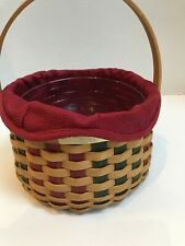 "Longaberger ""Caroling Basket�, Christmas Collection, 2003 + Protector Liner"