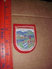 GERMANY JACKET PATCH Chiemsee Das Bayerische Meer Bavarian Sea Largest Lake Red