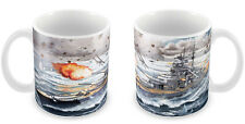 WWII German Bismarck Battleship Mug FULL WRAP - Gift Idea Naval ship War